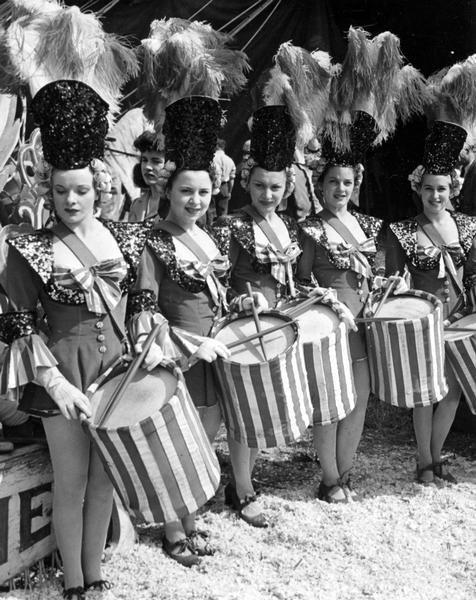vintage circus drummers